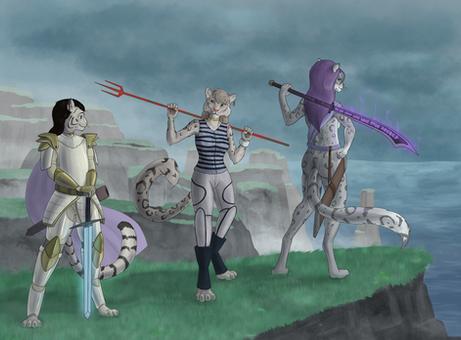 The Three Kitties (commissions)