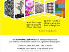 Entre Formas e Sentidos Colagem Escultura Objeto Pintura Clube de Engenharia - RJ