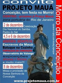 Projeto Mauá - Conceição tem festa no Morro!