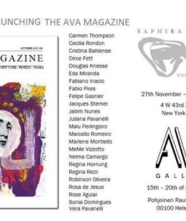 EXHIBITION - LAUNCHING THE AVA MAGAZINE | Saphira & Ventura, NY - EEUU Ava Galleria, Helsinki -
