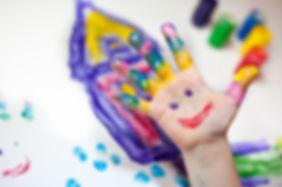 Little-Children-Hands-doing-Fingerpainti