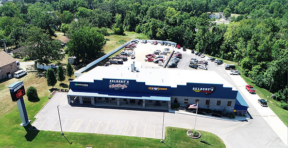Aerial Photo of Selbert's Autobody in Eureka, Missouri