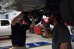 Techs performing mechanical repair