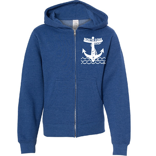 North Fork Anchor - Unisex Zip (Royal)