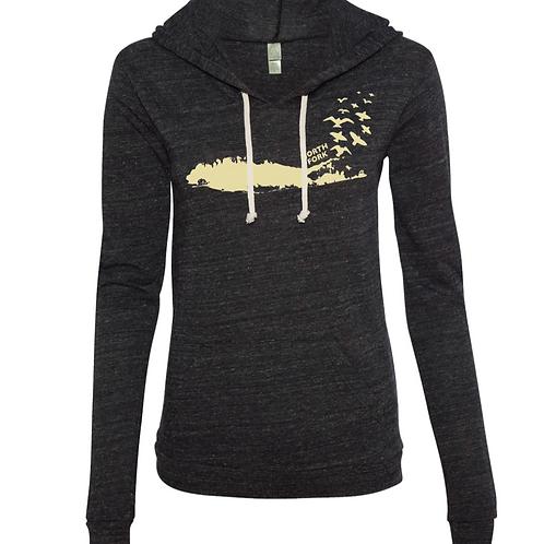 Bird Island Long Sleeve Hooded Shirt 4.1 oz.