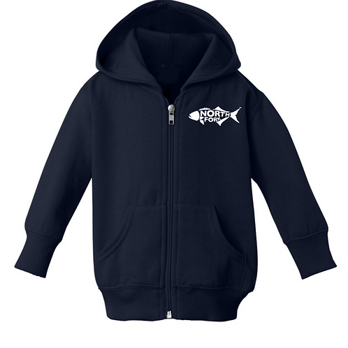 North Fork Fish - Infant Navy Hoodie