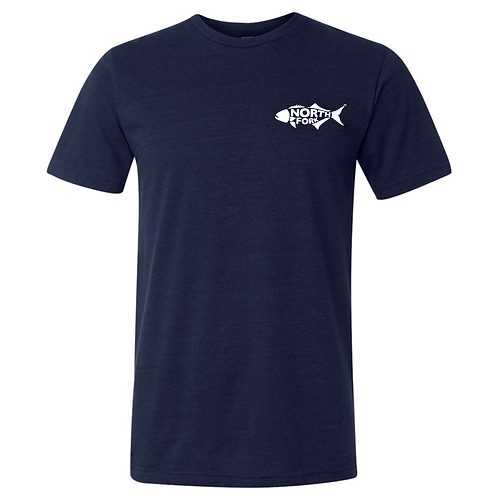 North Fork Fish - Triblend T-Shirt Navy