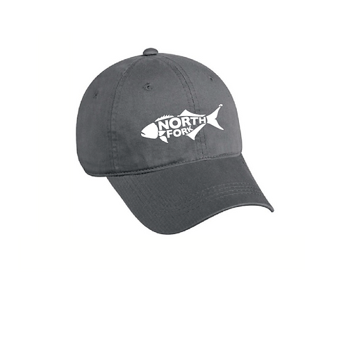 North Fork Fish Unstructured Embroidered Hat