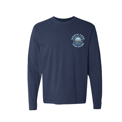 Coordinates Long Sleeve T-Shirt in Navy