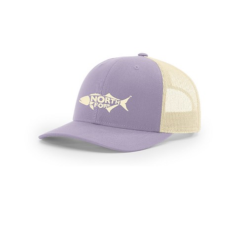 North Fork Fish Curved Brim Embroidered Hat with Mesh Back