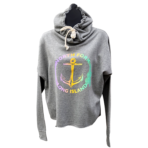 North Fork Sunset Anchor Crop Hoodie