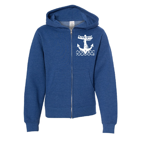Greenport Anchor - Unisex Zip (Royal)