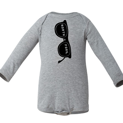 Rock the Shades - Heather Grey Onesie (Long Sleeve)