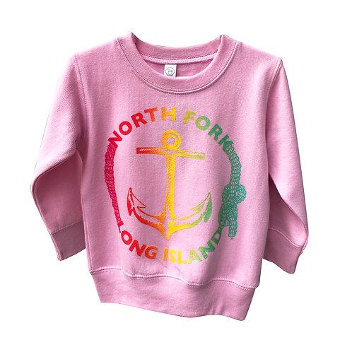 North Fork Anchor Crewneck Pink
