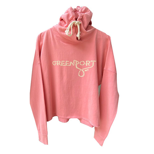 Greenport Sailor Knot Hooded Sweatshirt n Flamingo