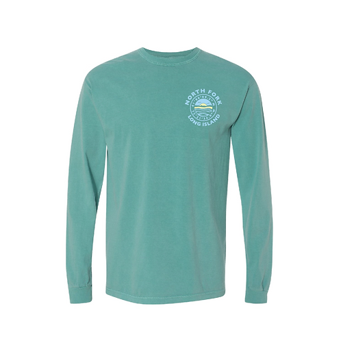 Coordinates Long Sleeve  T-Shirt in Seafoam