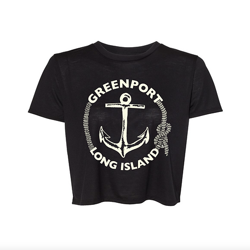 Greenport Classic Anchor Crop Top