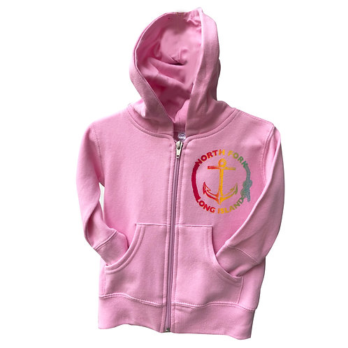 North Fork Anchor Zip in Pink