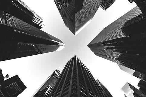ember background b&w buildings