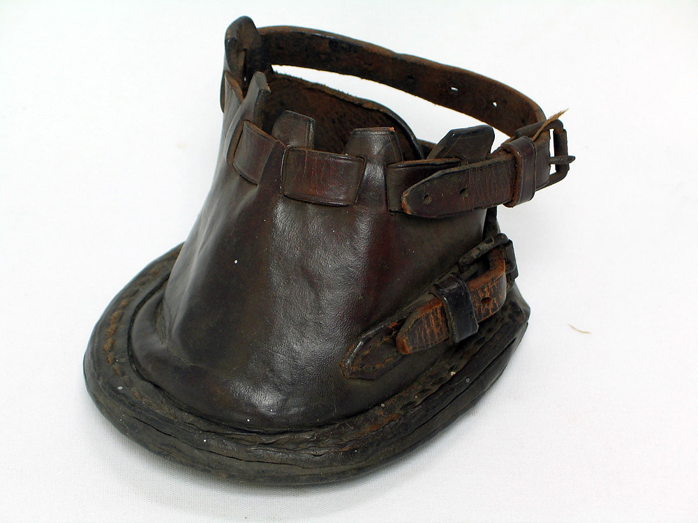 Leather upper with iron shoe early AD