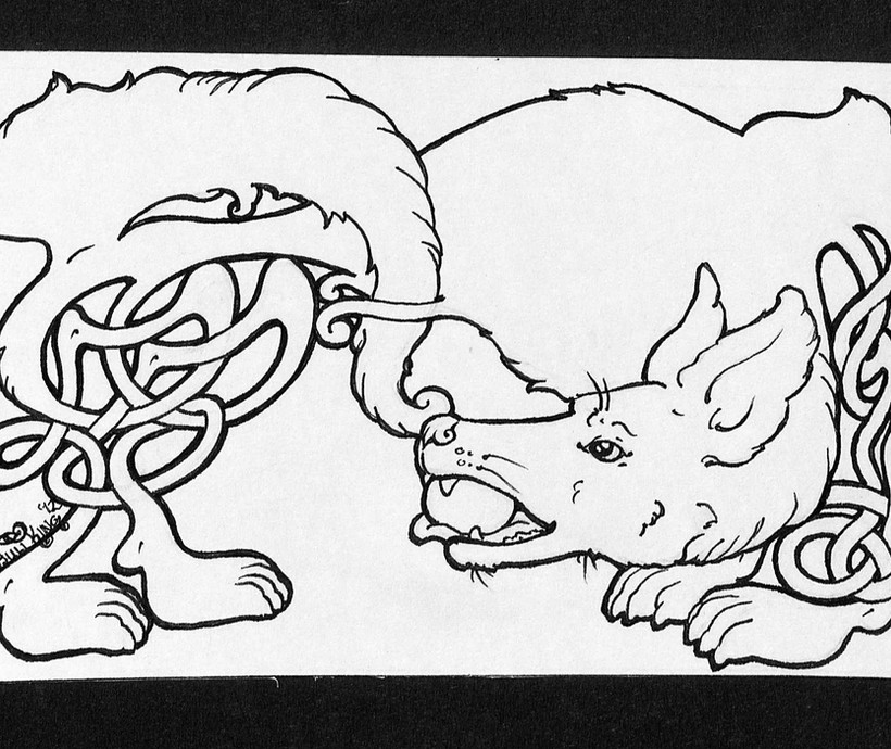 Knotwork Dog - Aspen the German Shepherd