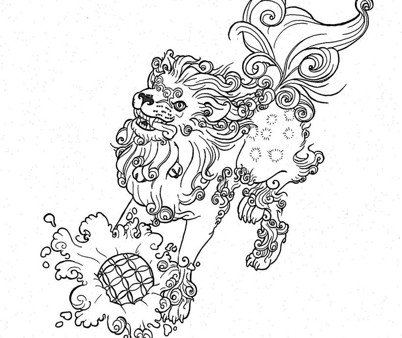 Splashing Foo Dog - Male