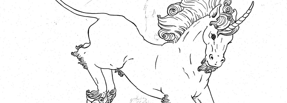 Leaping Unicorn Linework