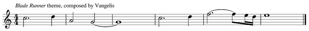 Blade Runner theme composer by Vangelis