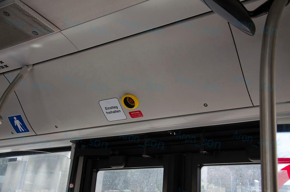 Nincs indításjelző, ahogy a többi buszukon sem.