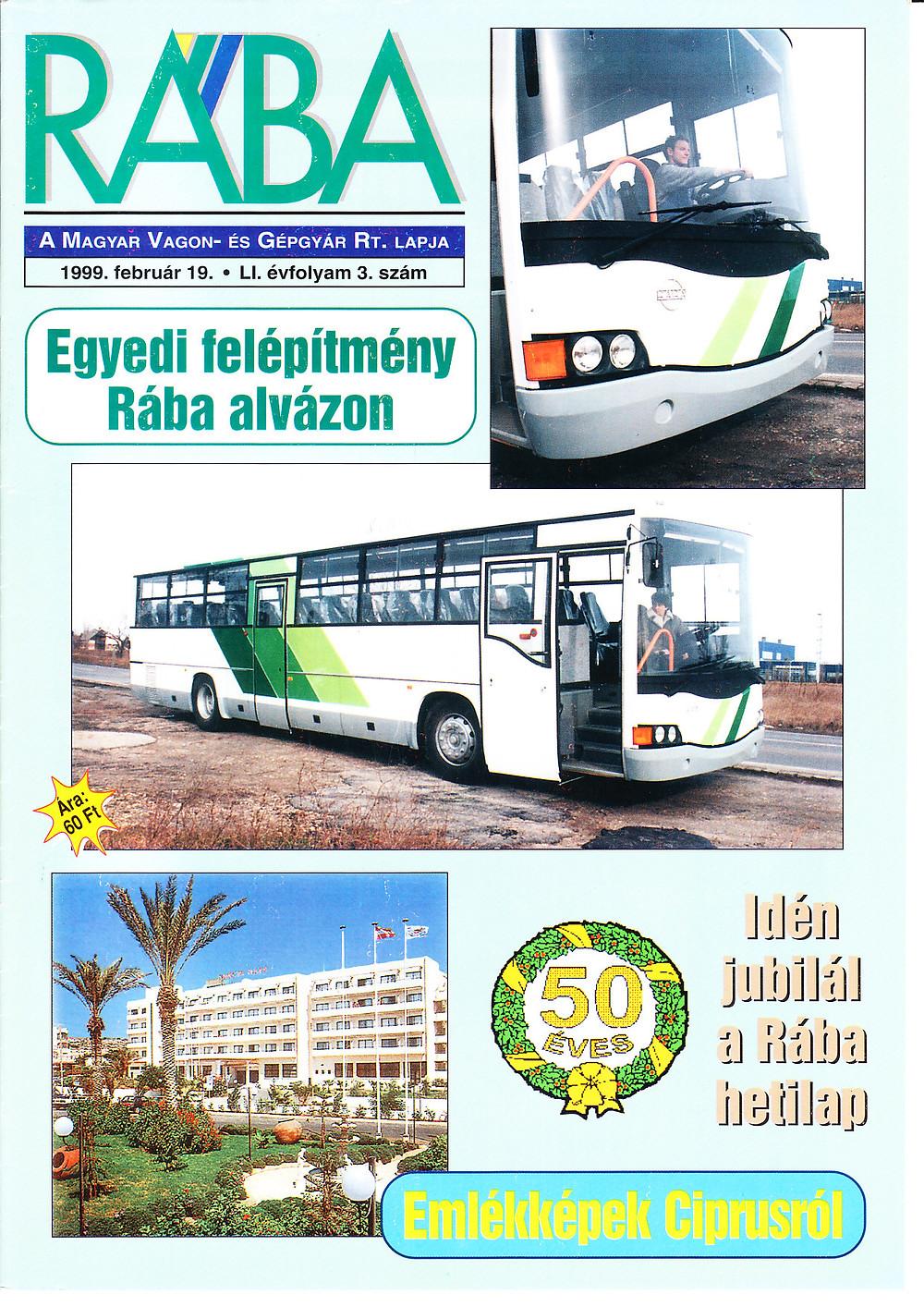 A buszról a Rába újságban is írtak.