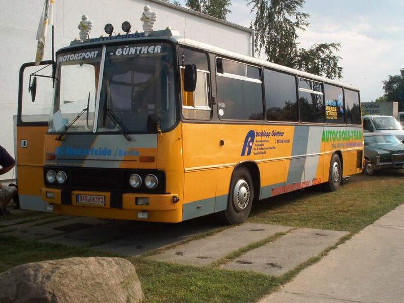 Az egyetlen ismert német versenyautó-szállító (gokartos). Fotó: busztipusok.hu