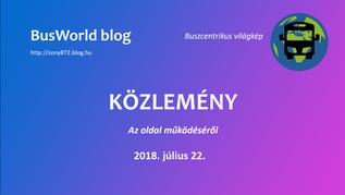 Közlemény | Az oldal működéséről