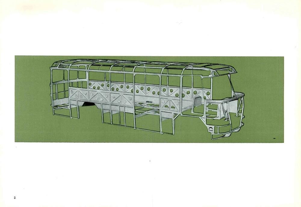 Az Ik620/630 típuspár felépítménye. Ábra: Ikarus prospektus