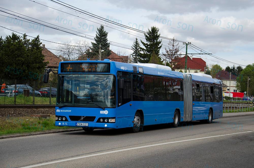 PRM-531 hasít a Veres Péter úton.