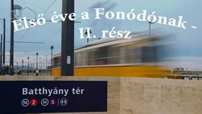 Első éve a Fonódónak   II. rész