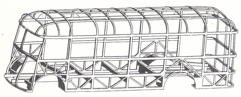 A Tr3,5-ös autóbusz klasszikus önhordó váza. Ábra: [8]