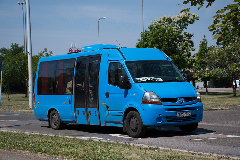 A 2018-ban használt minibusz.