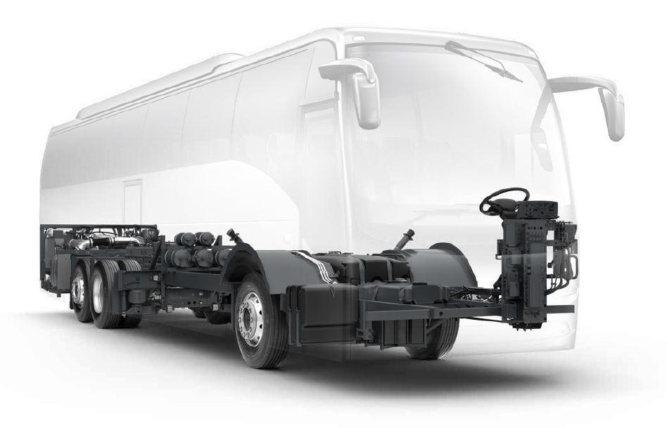 Volvo alváz a felépítmény sziluettjével. Kép: [14]
