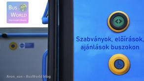 Szabványok, előírások, ajánlások buszokon