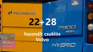 22+28 darab használt csuklós Volvo