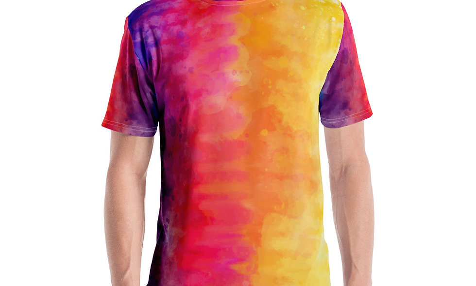 Colorful Tie Dye Men's T-shirt