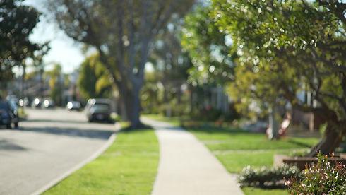 sidewalk in new braunfels neighborhood