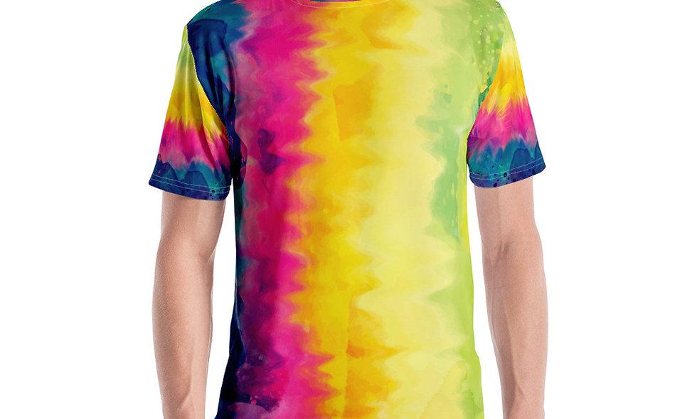 Paint Style Tie Dye Men's T-shirt
