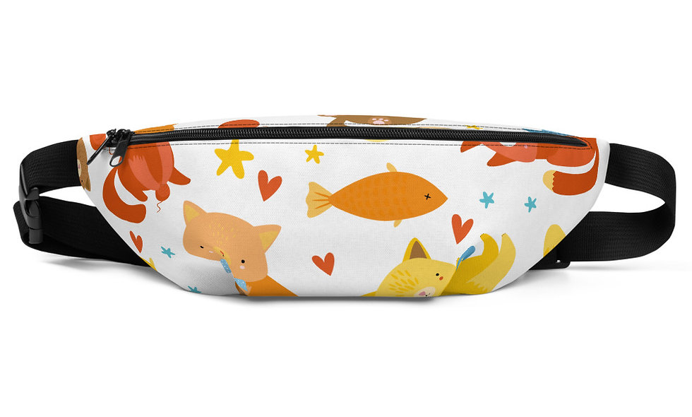 Kitten Fanny Pack - Kitties Everywhere - Great for Kids