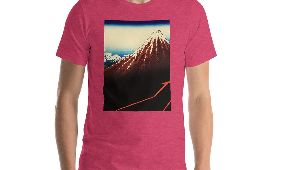 Rainstorm Beneath the Summit T-Shirt - Ukiyo-e Painting by Katsushika Hokusai