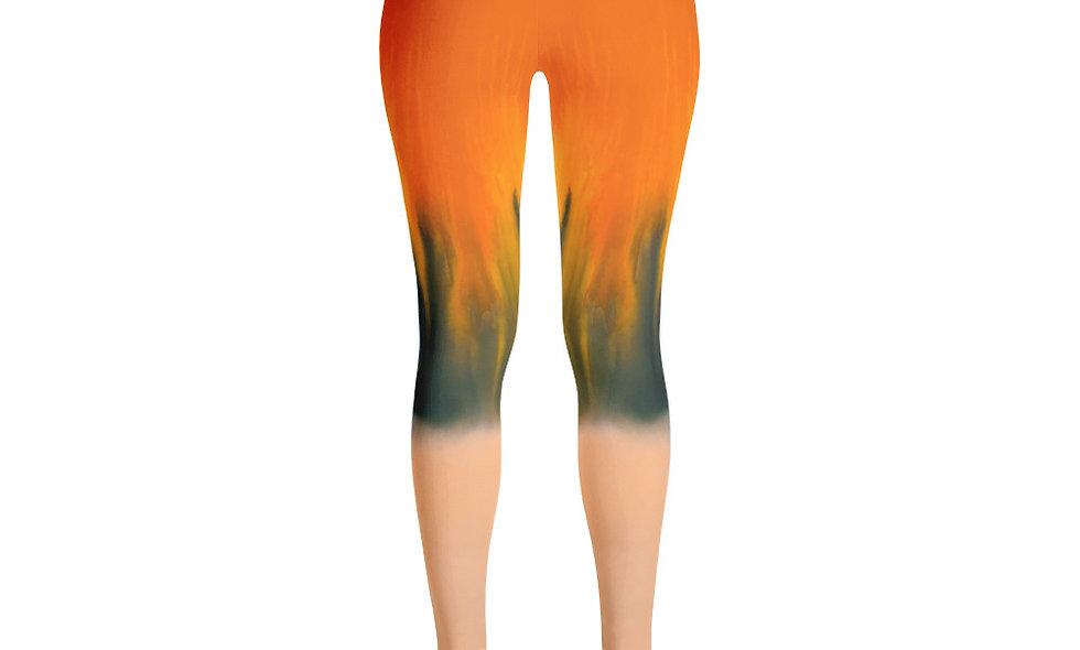 Orange and Blue Tie Dye Leggings