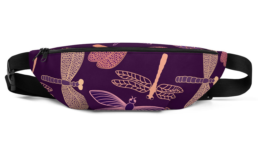 Dragonfly Fanny Pack - Purple Color, Great for Kids