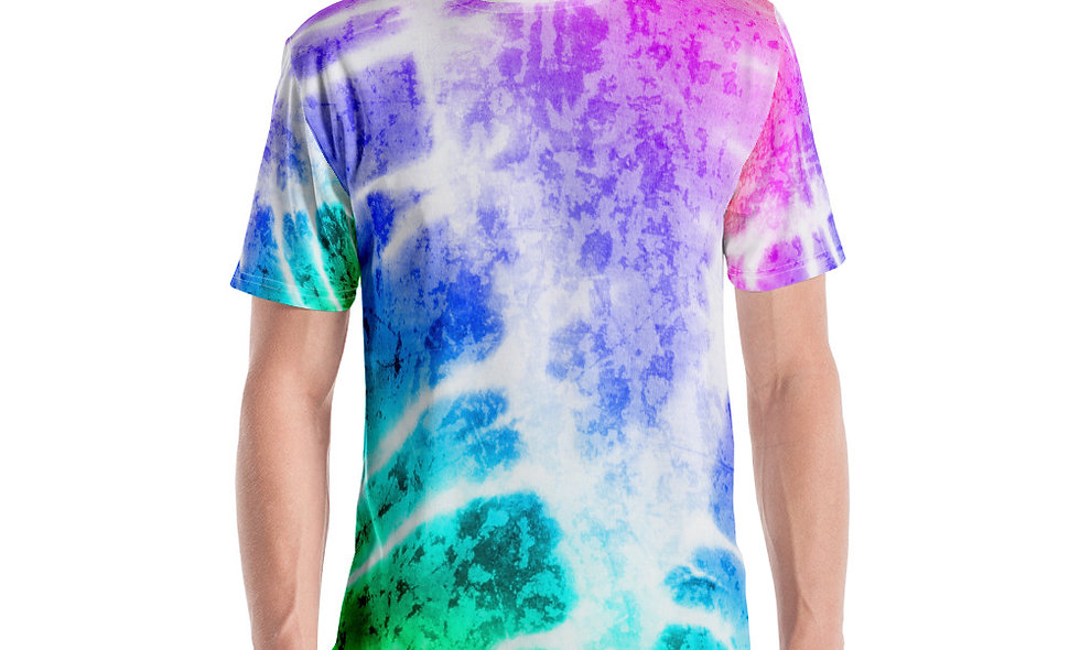 Colored Arrow Style Tie Dye Men's T-shirt