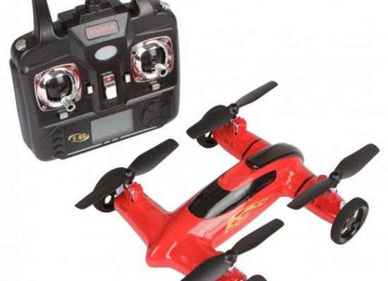 Syma X9 RC Remote Control 2.4GHz 4-Channel 6-Axis Gyro Flying Car Drone with Bat