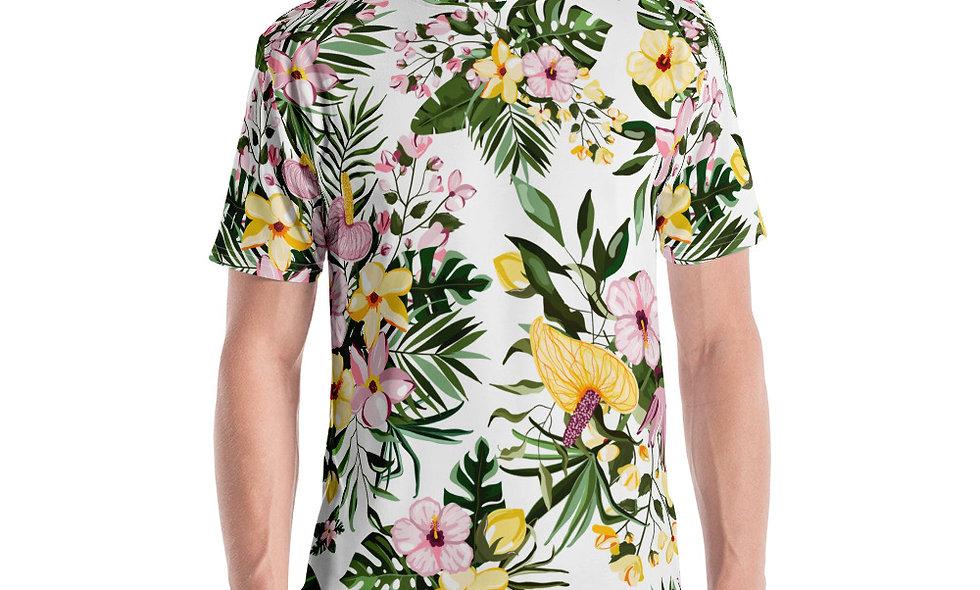 All Over Flower Print T-shirt | Chill Flower Shirt | Great for Festivals